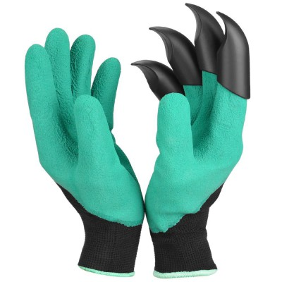 Garden Genie Gloves with Fingertips Claws for Digging and Planting 1 Pair Ninonly Green Quick Waterproof Rose Pruning Gloves Mittens Digging gloves
